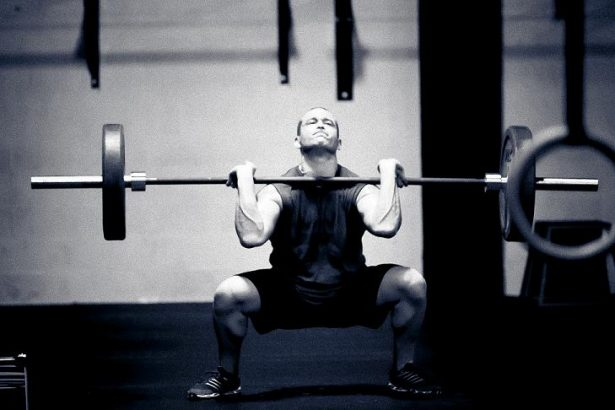 power clean athletic build