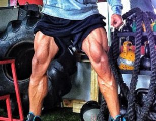 big athletic legs
