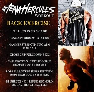 Back Workout of The Rock