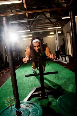 Christine Ray sled push
