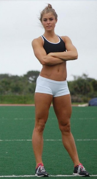 Athletic legs