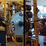James Harrison Goes Beast Mode With 135 lb One Arm Shoulder Press