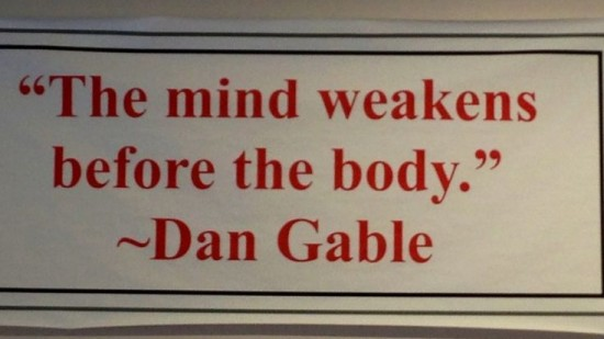 The mind weakens before the body