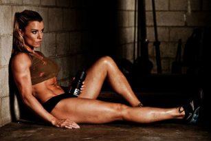 Sweaty girl athletic