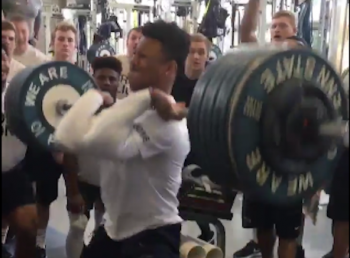 Saquon Barkley power clean