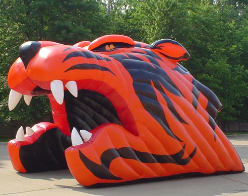 Tiger head inflatable