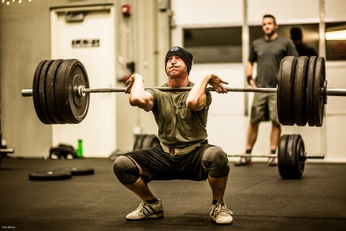 paused front squat