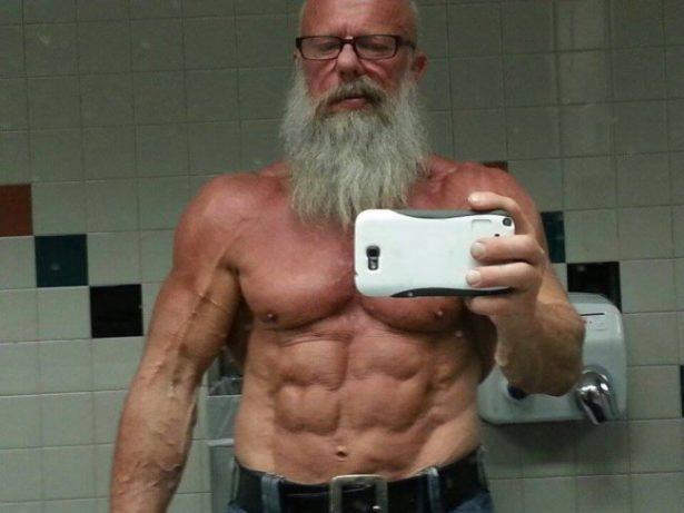 strong old man bodybuilder