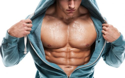 Strong chest with abs
