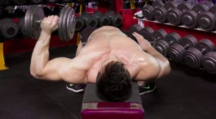 one arm dumbbell bench press