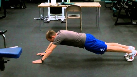 walkout hold ab exercise