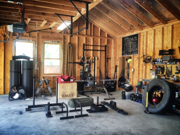 Crossfit garage timber outhouse setup