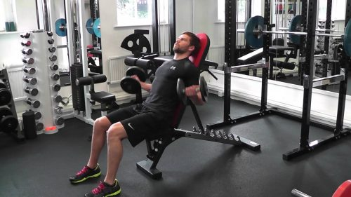 Seated incline curls