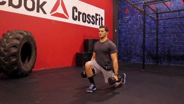 dumbbelll lunges