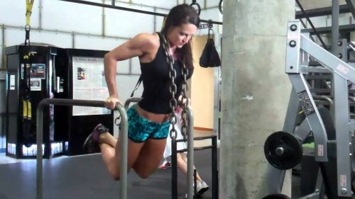 Girl doing dips