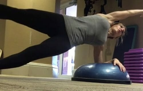 Gina Ostarly Exercising