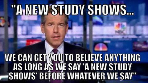 Don't believe studies