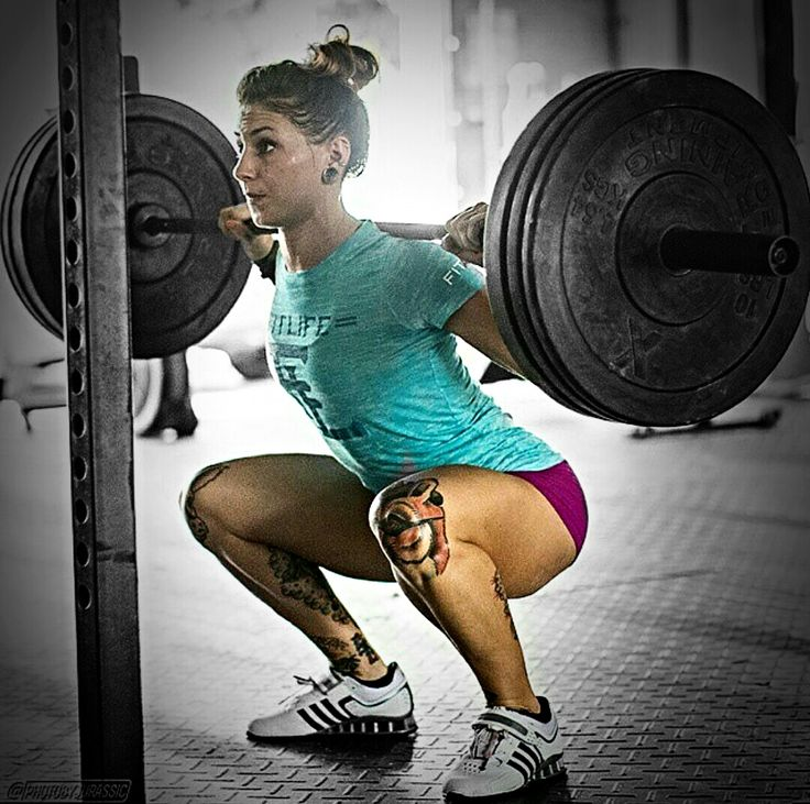girl squatting