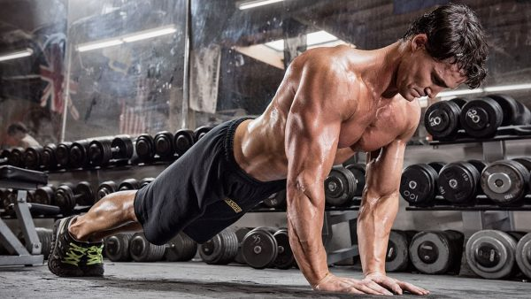 Close grip push ups