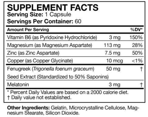 Z-Core PM ingredients