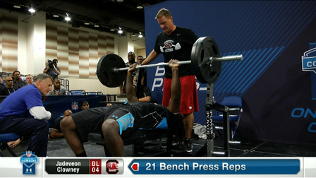Bench press for football